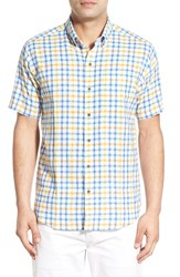 Men's Big And Tall Cutter And Buck 'Abalone Check' Short Sleeve Sport Shirt