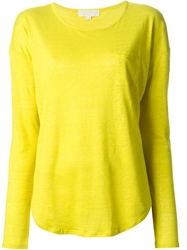 Michael Michael Kors Loose Fit Long Sleeve T Shirt Yellow And Orange