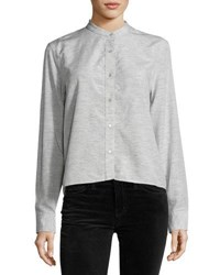 Rag And Bone Leeds Cropped Blouse Light Gray