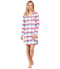 Jockey Flannel Sleepshirt Malted Plaid Women's Pajama Multi