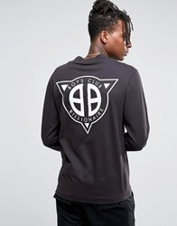 Billionaire Boys Club Turtle Neck Long Sleeve T Shirt With Back Print Black