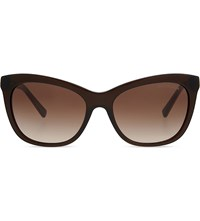 Michael Kors Mk2020 Adelaide Ii Square Frame Sunglasses Chocolate