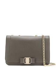 Salvatore Ferragamo Vara Bow Shoulder Bag Grey
