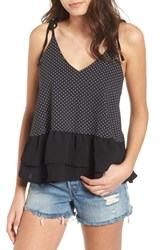 Lost Ink Print Camisole Black