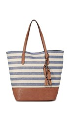Splendid Key West Tote Metallic Stripe