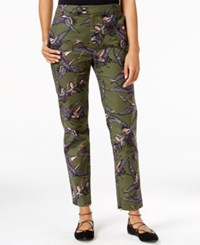 Rachel Roy Printed Ankle Zip Pants Only At Macy's Forest Combo