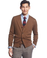 Tommy Hilfiger Signature Solid Cardigan Coconut Brown Heather
