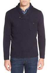 Men's Bonobos Shawl Collar Pullover Sweater Navy