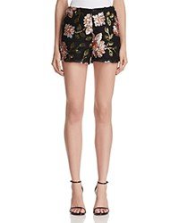 Endless Rose Floral Sequin Shorts 100 Bloomingdale's Exclusive Black Combo