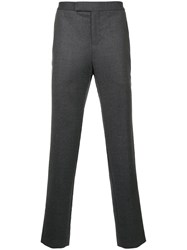 Tomorrowland Cropped Tailored Trousers Silk Cupro Wool Grey