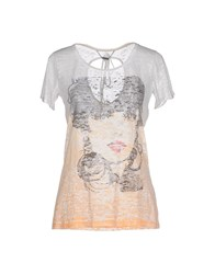 Custo Barcelona Topwear T Shirts Women Apricot