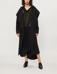 Drkshdw Wrap Over Cotton Jersey Robe Jacket Black