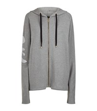 La Mania Chainmail Patch Hoodie Grey