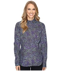 Roper 0562 Crushed Paisley Purple Women's Clothing