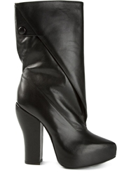 Carven Chunky Heel Boots Black