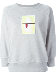Marni Appliqua Detail Sweatshirt Grey