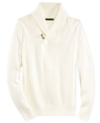 Sean John Men's Toggle Shawl Collar Sweater Sj Cream