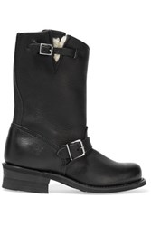 Frye Engineer Leather Boots Black