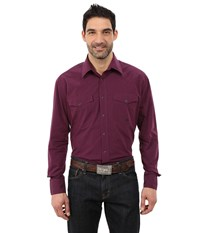 Roper 0059 Black Fill Poplin Purple Men's Clothing