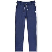 Ami Alexandre Mattiussi Heart Logo Technical Taped Track Pant Blue