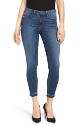 Good American Plus Size Women's Legs Crop Released Hem Skinny Jeans Blue 009