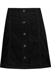 Joie Tilda Cotton Blend Corduroy Mini Skirt Black