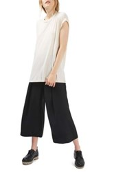 Topshop Cowl Back Tee White
