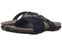 Naot Footwear Jennifer Polar Sea Leather Navy Stretch Women's Sandals Blue