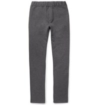 Bottega Veneta Fleece Back Cotton And Wool Blend Jersey Sweatpants Gray