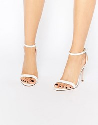 Asos High Five Heeled Sandals White