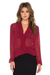 T Bags Losangeles Cross Front Blouse Wine