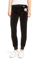 Juicy Couture Women's Call Me Zuma Velour Track Pants Pitch Black