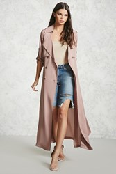 Forever 21 Crepe Woven Trench Coat