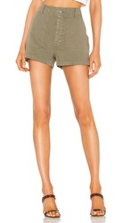 Re Done 50S Military Short In Army. Olive