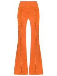 Giuliana Romanno Flared Trousers Yellow And Orange