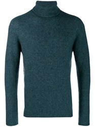 Nuur Knitted Roll Neck Jumper Blue