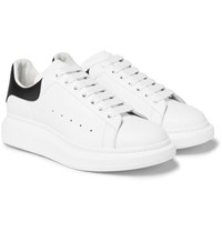 Alexander Mcqueen Larry Exaggerated Sole Leather Sneaker White