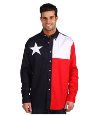 Roper L S Pieced Texas Flag Shirt Natural Men's Clothing Beige