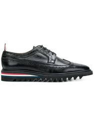 Thom Browne Threaded Sole Longwing Brogue Black