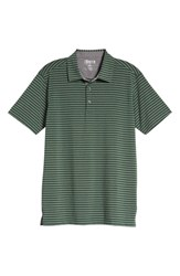 Bobby Jones Control Stripe Jersey Polo Green