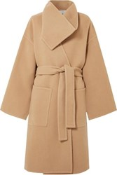 J.W.Anderson Jw Anderson Belted Wool And Cashmere Blend Coat Beige