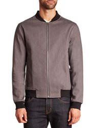 Wesc Baron Cotton Blend Jacket Asphalt