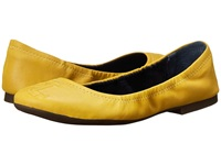Lauren Ralph Lauren Beatrice Pineapple Soft Fine Grain Women's Flat Shoes Yellow