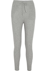 Alexander Wang Ribbed Wool And Cashmere Blend Skinny Pants