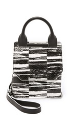 Mcq By Alexander Mcqueen Mini Ruin Shoulder Bag Black White
