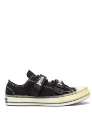 Palm Angels Velcro Strap Canvas Trainers Black Multi