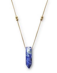 Alex And Ani Sodalite Pendant Necklace Gold