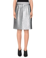 Brian Dales Skirts Knee Length Skirts Women Silver