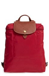 Longchamp 'Le Pliage' Backpack Red Deep Red