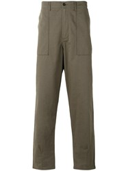 Universal Works Loose Fit Trousers Men Cotton 36 Green